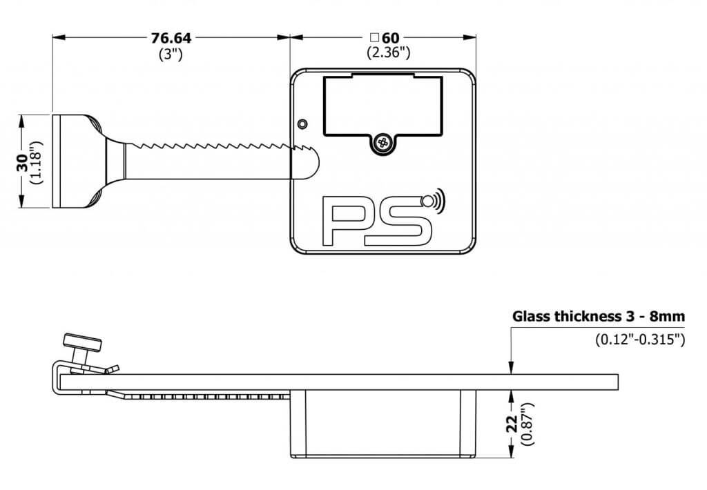 Electronic lock for glass sliding doors