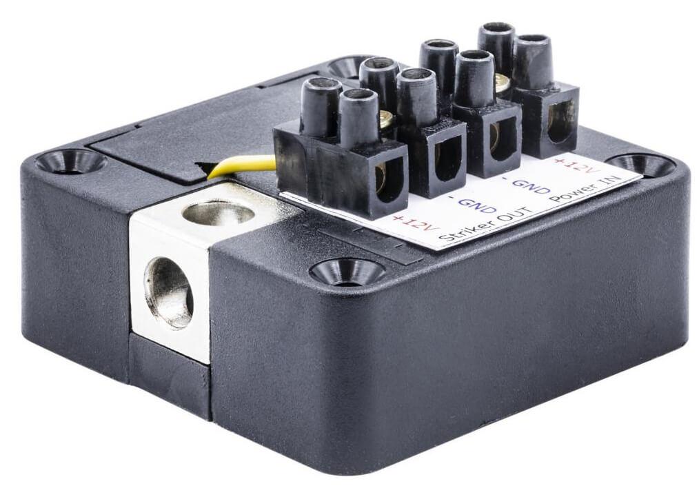 Electronic lock for door striker