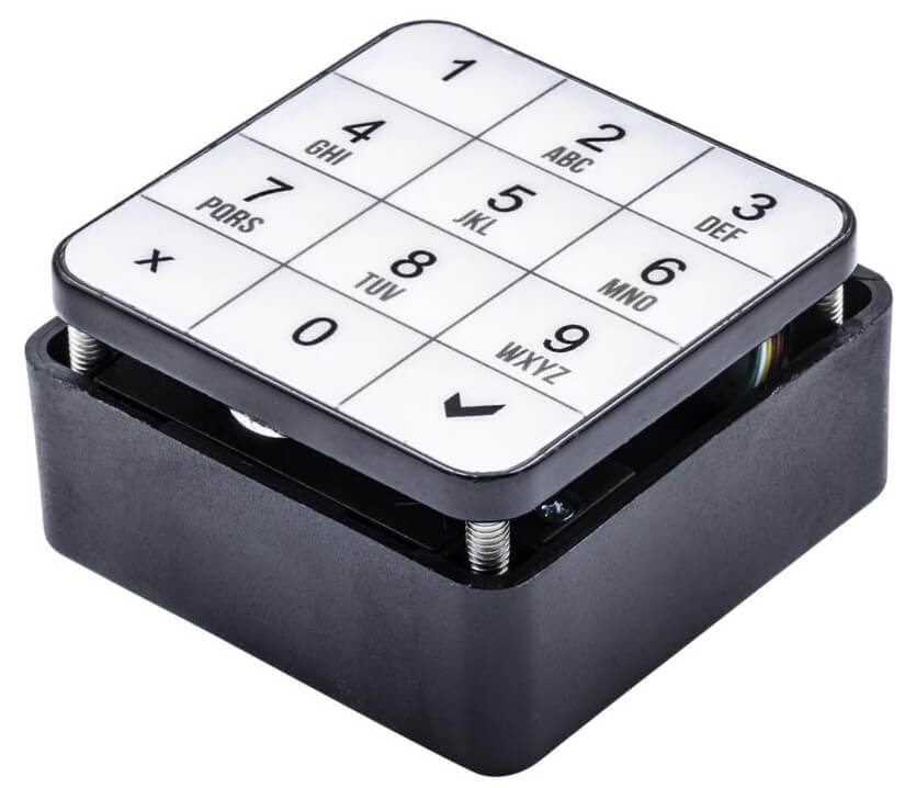 Electronic number keypad lock for furniture and lockers