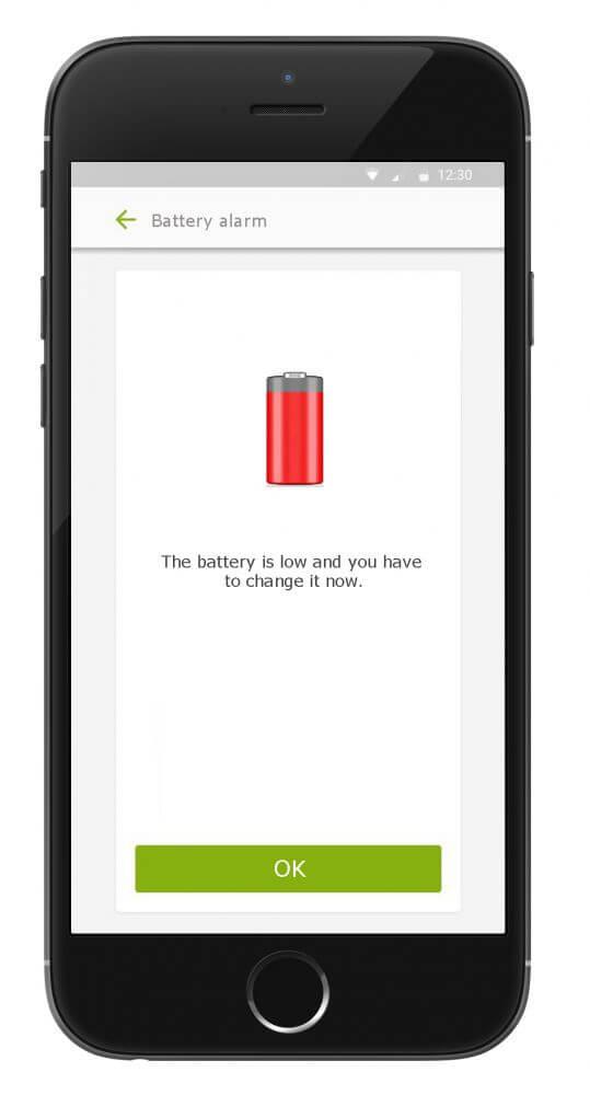 Bluetooth battery alarm